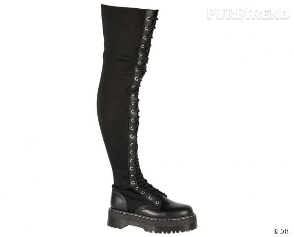 Dr Martens par Agyness Deyn :   Aggy T Over Knee, 355 €