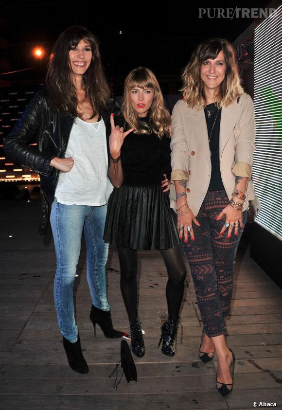 Doria Tillier et Daphné Bürki ont pris la pose avec la petite Aude Pépin, pas du tout intimidée...