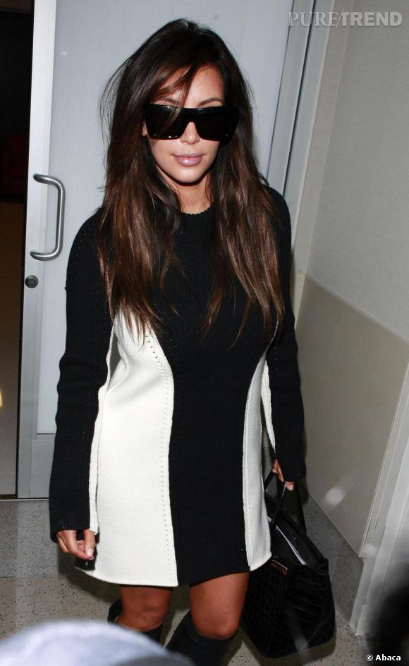 Kim Kardashian à l'aéroport de Los Angeles le 11 septembre dernier.