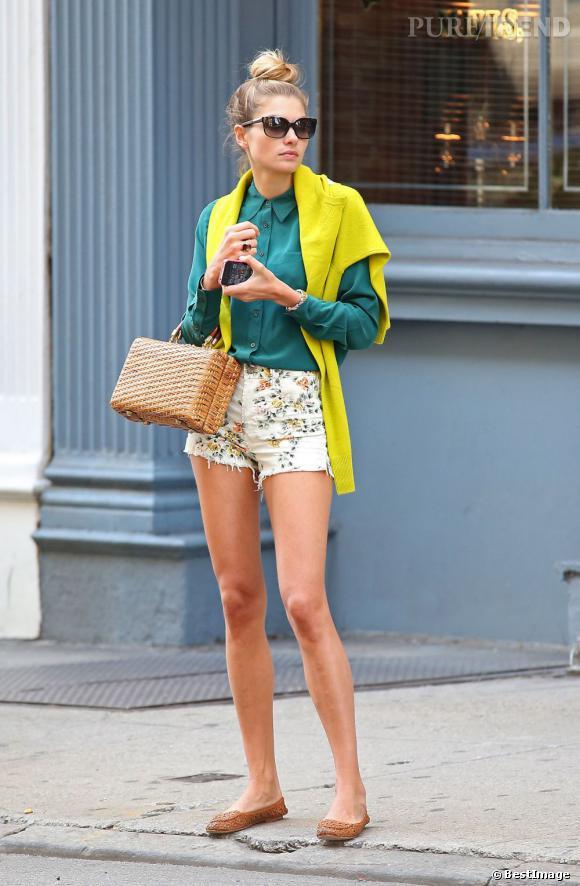 Jessica Hart dans les rues de New York le 11 septembre dernier.