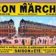 """Exposition """"160 ans d'Innovations, Aristide et Marguerite Boucicaut"""" au Bon Marché.   Archives Bon Marche - Affiche publicitaire environ 1910."""
