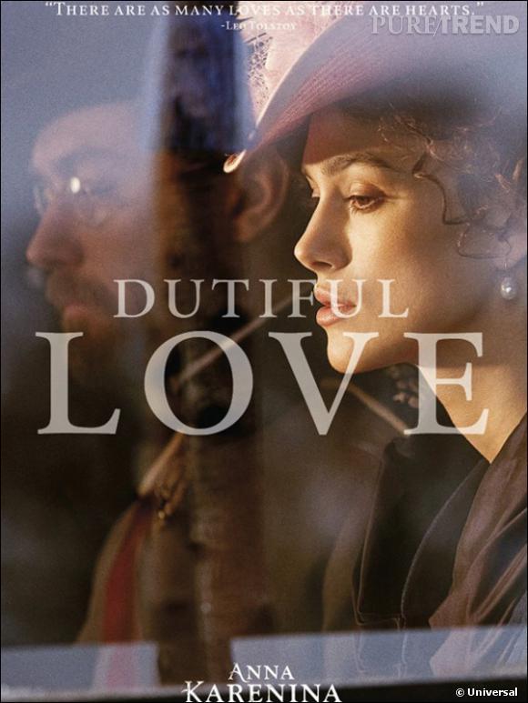 Les huit affiches présentes les différents amours qui ponctuent le film. Ici, l'amour dévoué d'Anna à son mari, le fonctionnaire Karénine.