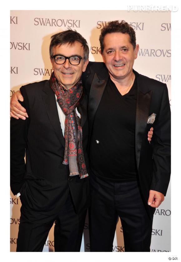 Fabrice Hyber et Jean de Loisy.