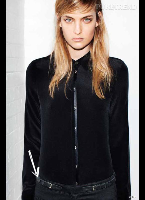 Comment porter le denim cet hiver ? Comme chez Victoria Beckham Denim on adopte le jean couture avec une ceinture intégrée.  Collection Automne-Hiver 2012/2013