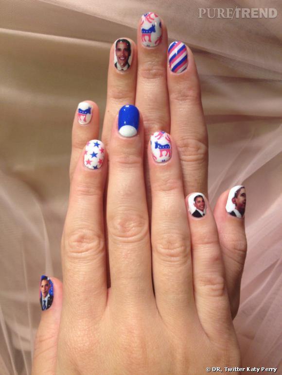 Katy Perry a lancé une tendance en affichant son soutien pour Obama sur sa manucure.