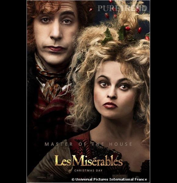 Les Thénardiers sont incarnés par Sacha Baron Cohen et Helena Bonham Carter.