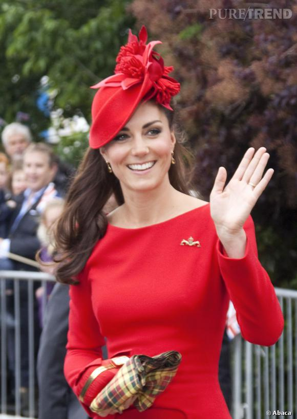Femme robe rouge en anglais