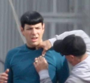 """Zachary Quinto dans la peau de M.Spock dans """"Star Trek""""."""