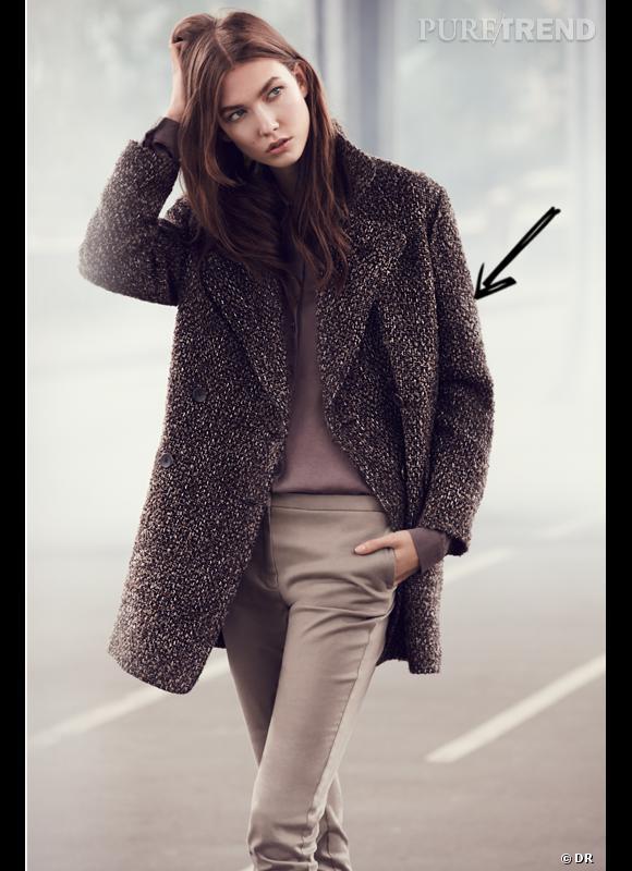 95eec549c34e Comment porter le manteau cet hiver   Comme chez Mango on adopte un manteau  style maille
