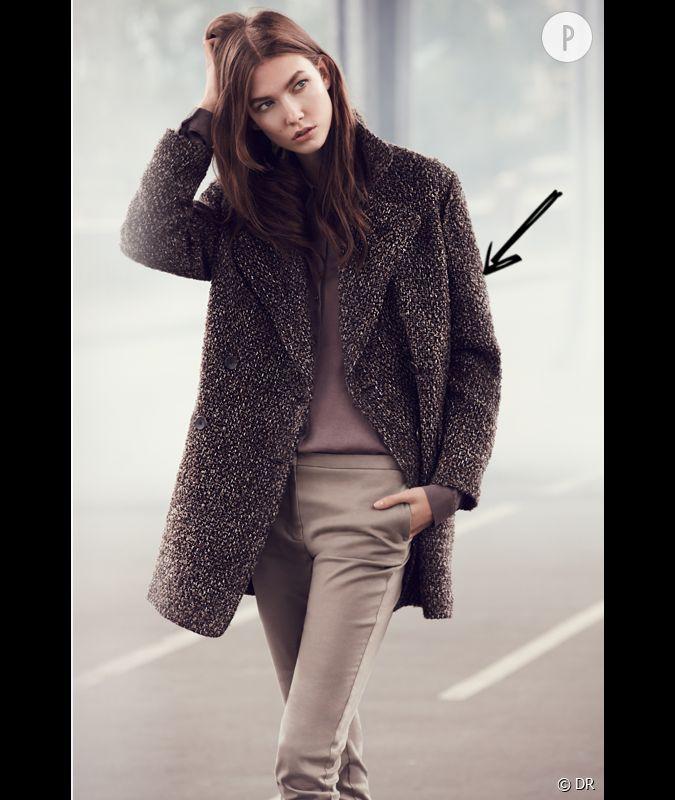 comment porter le manteau cet hiver comme chez mango on adopte un manteau style maille pour