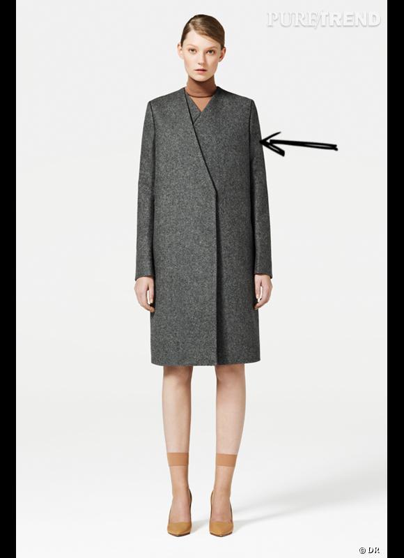 Comment porter le manteau cet hiver ?      Comme chez COS, on mise sur un manteau strict, fermeture double asymétrique, ultra chic.      Collection Automne-Hiver 2012/2013