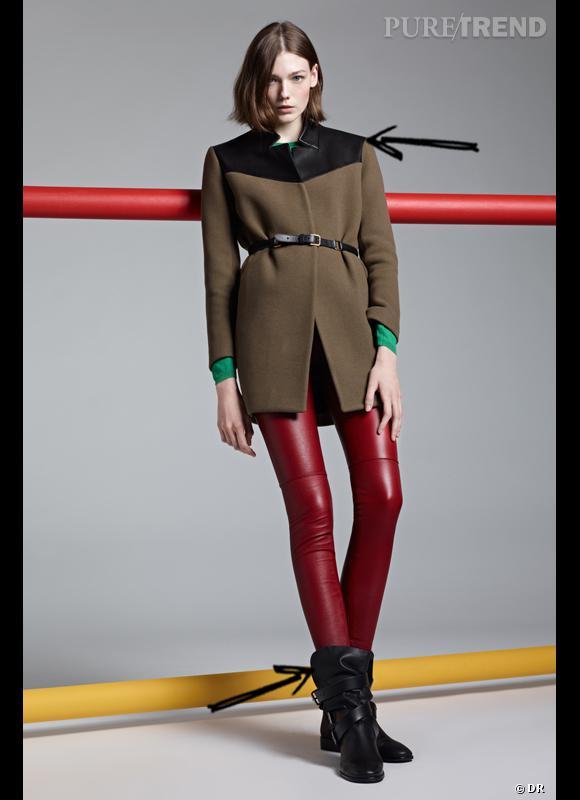 Comment porter le manteau cet hiver ?      Comme chez Maje on choisit un manteau bi-matière, avec détails de cuir.      Collection Automne-Hiver 2012/2013