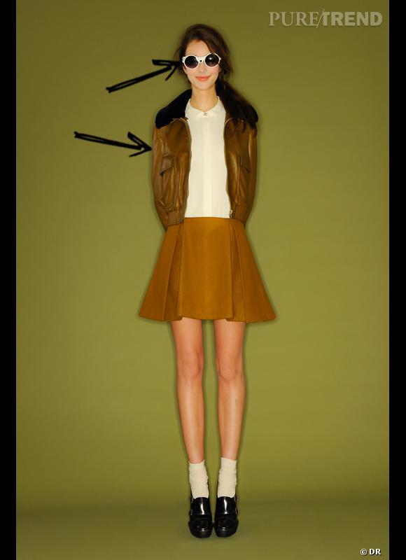 Comment porter le manteau cet hiver ?      Comme chez Mademoiselle Tara on joue les aviatrices glamour avec des lunettes de soleil et col fourrure.      Collection Automne-Hiver 2012/2013