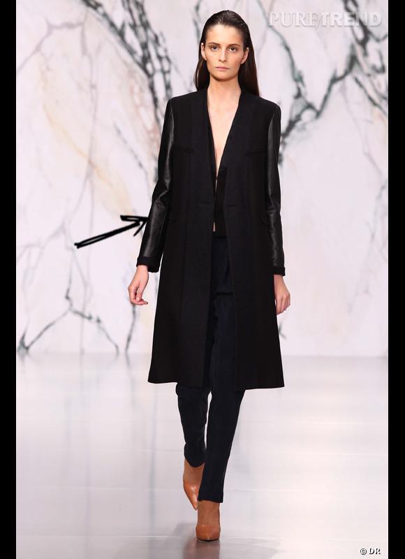 Comment porter le manteau cet hiver ?      Comme chez See by Chloé on mise sur le bi-matière avec des manches en cuir.      Collection Automne-Hiver 2012/2013