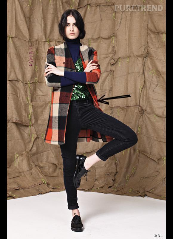 Comment porter le manteau cet hiver ?      Comme chez Bellerose on ose les carreaux même sur son manteau.      Collection Automne-Hiver 2012/2013