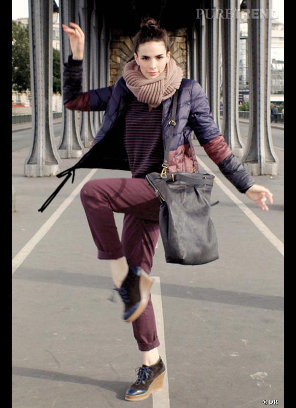 """Comment porter le manteau cet hiver ?      Comme chez Comptoir des Cotonniers x Uniqlo on réhabilite la doudoune en la choisissant légère, moderne, urbaine et colorée comme """"Mademoiselle Plume"""".      Collection Automne-Hiver 2012/2013"""