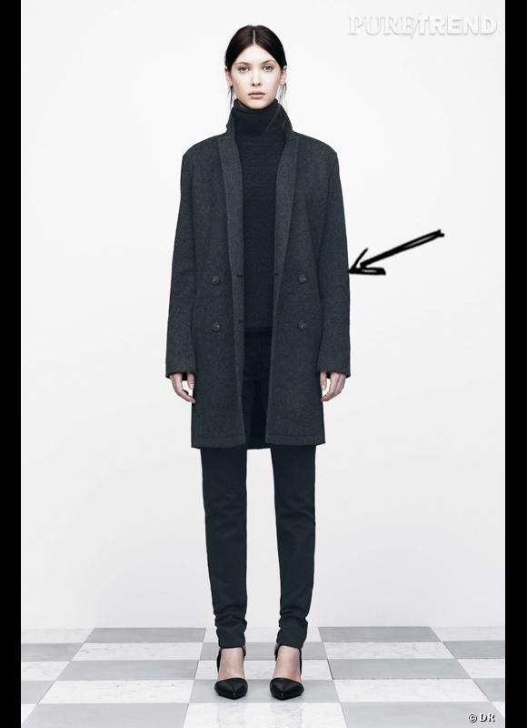 Porter un manteau noir