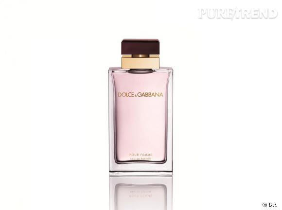 Pour Femme, Dolce & Gabbana, 79 € (50 ml), 99 € (100 ml) : Notes de néroli, framboise, mandarine verte, jasmin et fleur d'oranger.