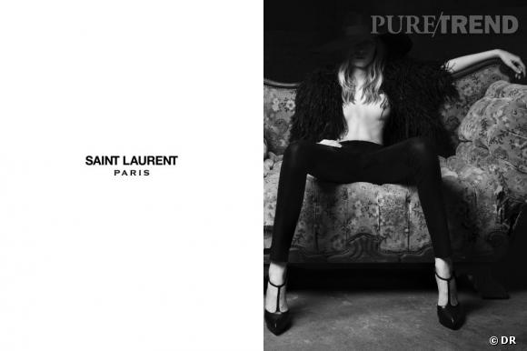 Campagne Saint Laurent Part I Julia Nobis par Hedi Slimane pour le Printemps-Eté 2013