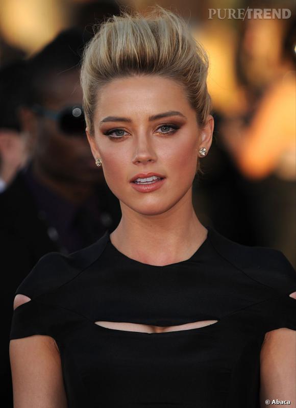 Les plus beaux make-up de 2012 : On a aussi apprécié le smoky cuivré d'Amber Heard.