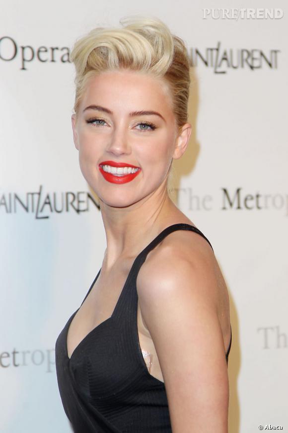 Les plus beaux make-up de 2012 : Amber Heard mixe rock'n'roll attitude et sex-appeal comme personne.