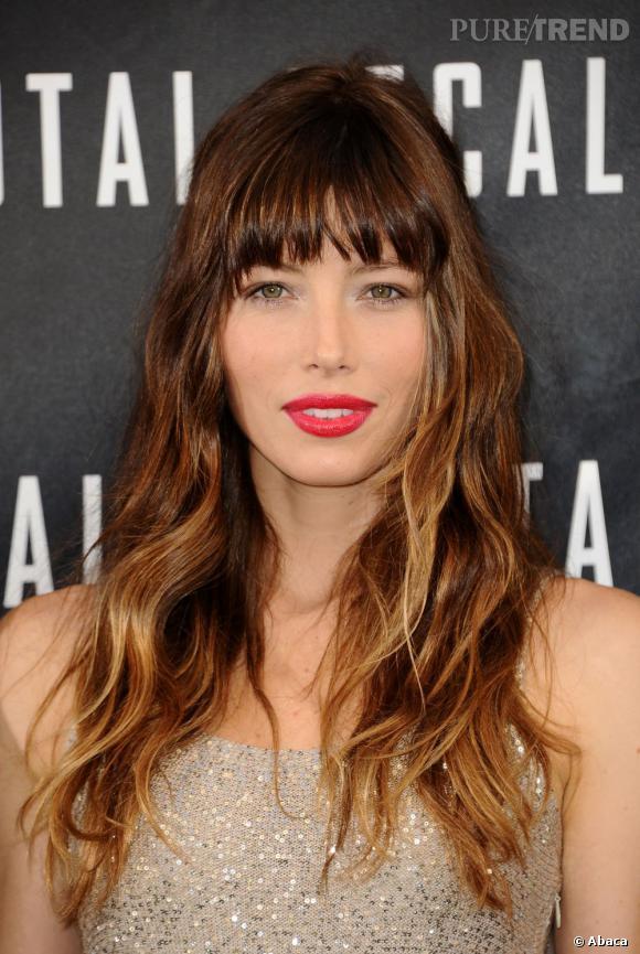 Les plus beaux make-up de 2012 : Jolie sortie pour Jessica Biel et ses lèvres vitaminées.