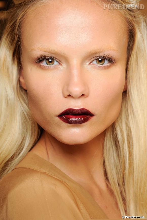 Les tendances beauté 2013 : La bouche qui flashe     Défilé Gucci Automne-Hiver 2012/2013