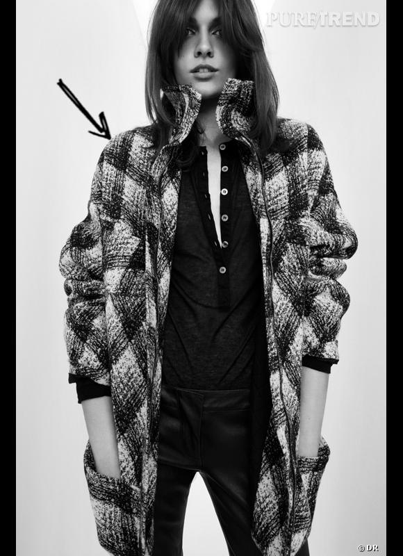 Comment porter les carreaux cet hiver ?      Comme chez Pierre Balmain on adopte le manteau XXL à grands carreaux style grunge.      Collection Automne-Hiver 2012/2013