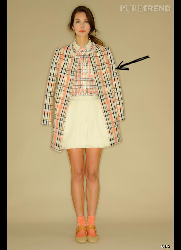 Comment porter les carreaux cet hiver ?      Comme chez Mademoiselle Tara on mise sur le tartan modernisé.      Collection Automne-Hiver 2012/2013