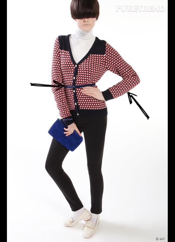 Comment porter les carreaux cet hiver ?      Comme chez Les Petites, on assume ses envies rétro en cardigan à carreaux, à ceinturer et à porter avec un col roulé.      Collection Automne-Hiver 2012/2013