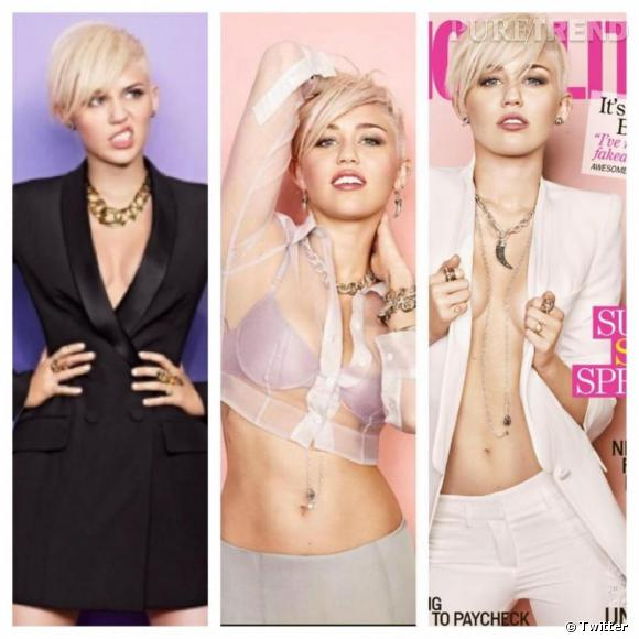 Miley Cyrus, toujours aussi sexy ! L'actrice et chanteuse nous montre un aperçu de son shooting photo pour Cosmopolitan.