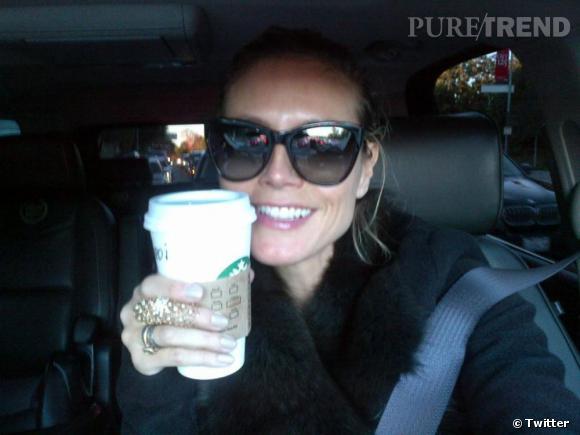 Heidi Klum commence sa journée par une dose de caféine !