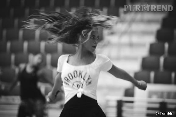 Beyoncé partage quelques images de ses répétitions pour le Super Bowl.