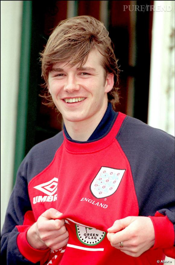 David Beckham en 1997 chez Manchester United.