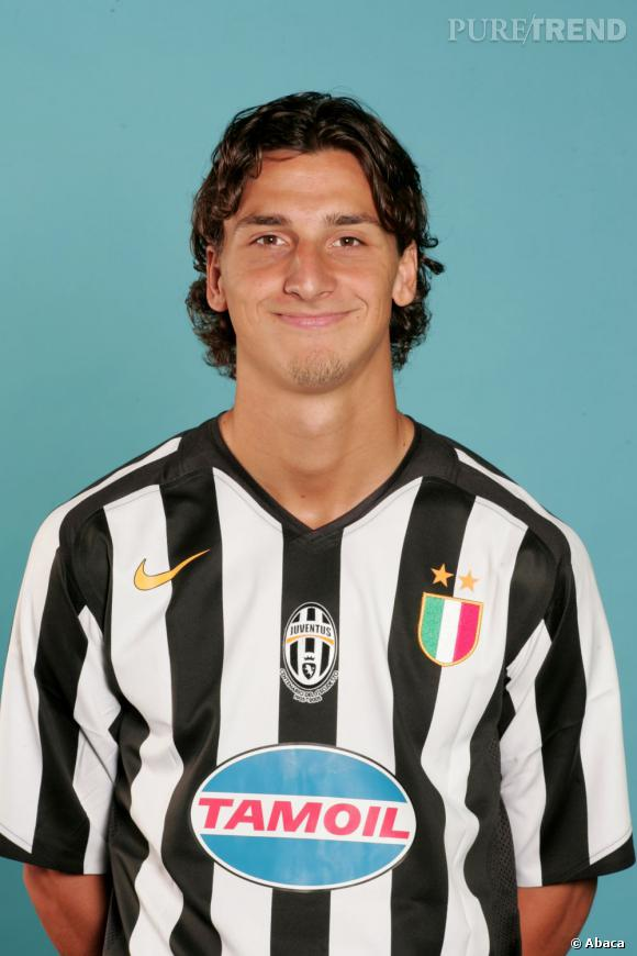 Zlatan Ibrahimovic lors de ses débuts à la Juventus de Milan.