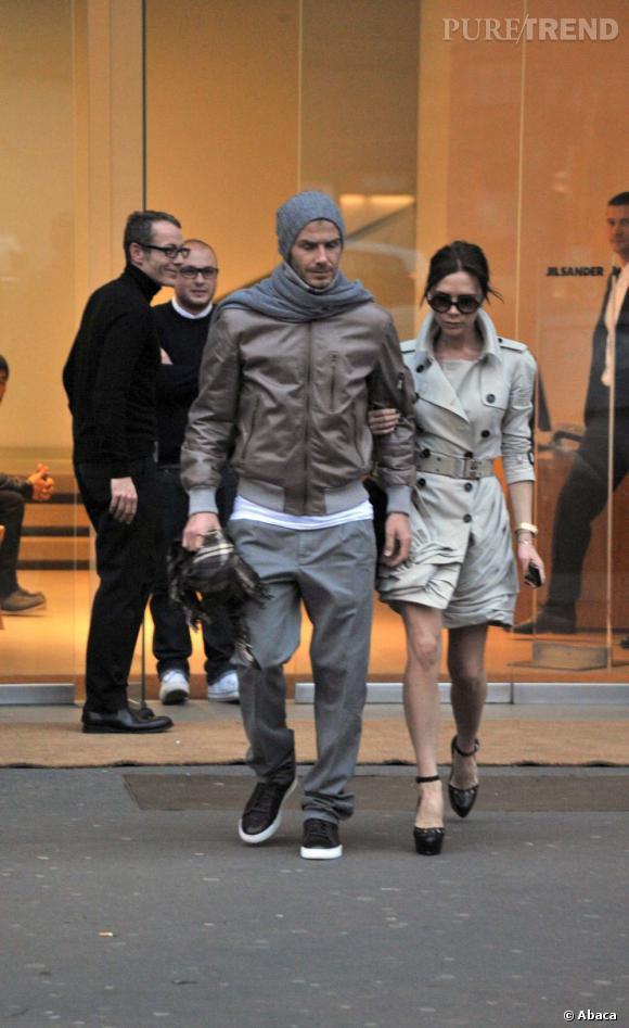 David et Victoria Beckham à Milan : couple trendy bien assorti. Voire trop bien ?