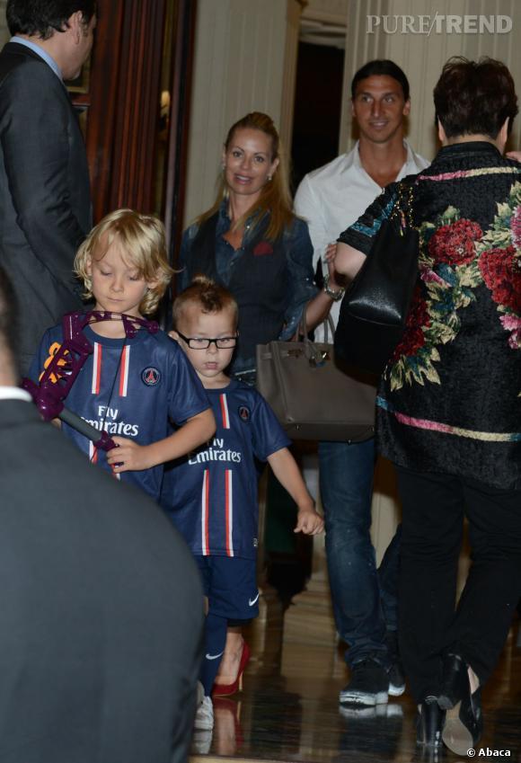 Les enfants Ibrahimovic : 2 garçons accros au PSG.