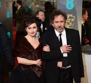 Tim Burton et Helena Bonham Carter aux BAFTA 2013 à Londres.