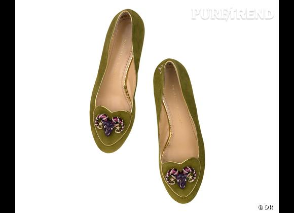 """Must have : slippers """"Birthday Shoes"""" Charlotte Olympia, 595 €    Signe : Bélier"""