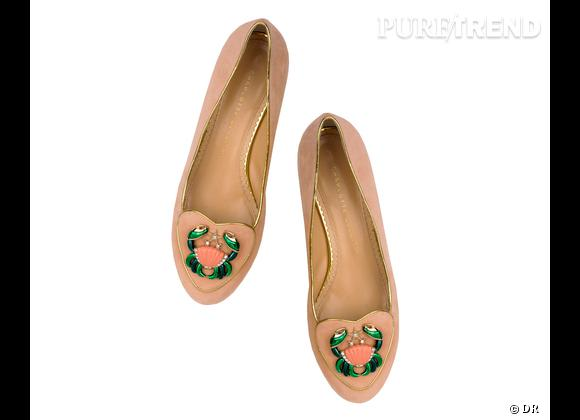 """Must have : slippers """"Birthday Shoes"""" Charlotte Olympia, 595 €    Signe : Cancer"""