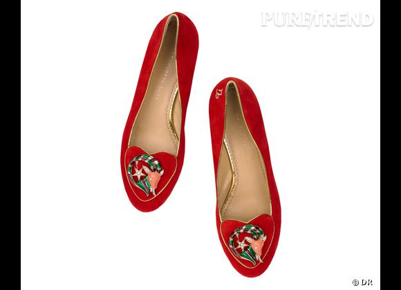 """Must have : slippers """"Birthday Shoes"""" Charlotte Olympia, 595 €    Signe : Capricorne"""