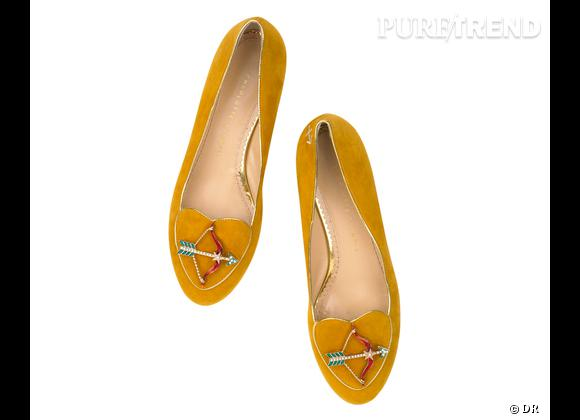 """Must have : slippers """"Birthday Shoes"""" Charlotte Olympia, 595 €    Signe : Sagitaire"""