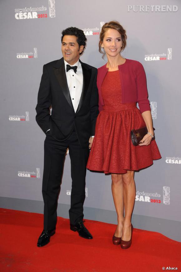 César 2013 : Mélissa Theuriau et Jamel Debbouze, président de la cérémonie. L'un des couples les plus touchants de la soirée.