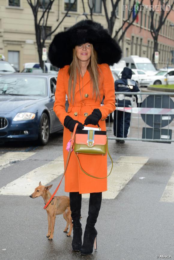 Street Style, le best of de la Fashion Week de Milan.  Anna Dello Russo , toujours aussi extravagante.