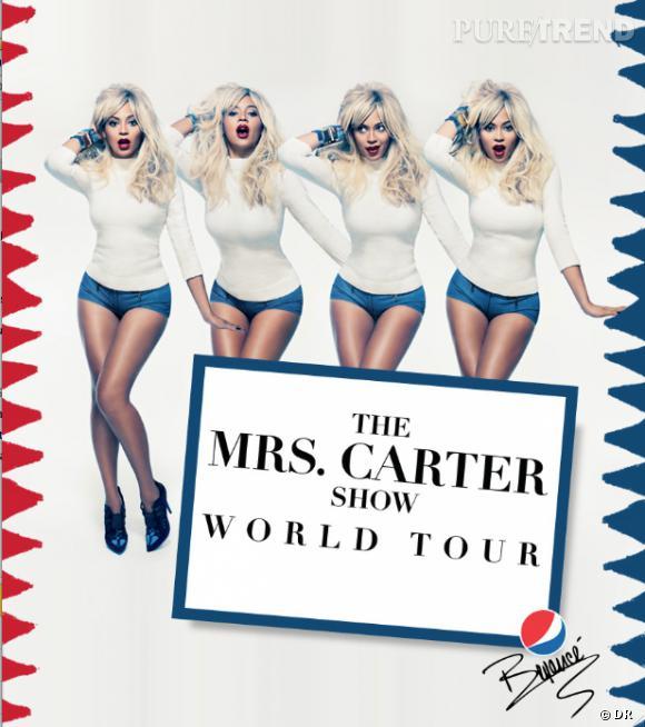 Beyoncé, blonde sexy, pour faire la promotion de sa tournée.