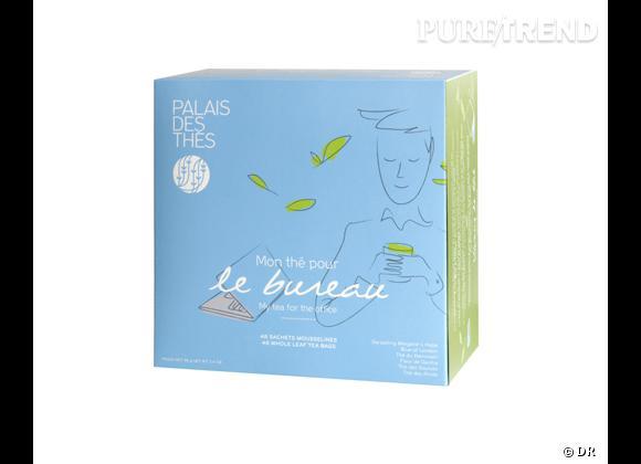 """Le must have de Catherine     Coffret """"Mon thé pour le bureau"""", sélection de 48 mousselines, 6 thés différents, Palais des Thés, 25 € sur  www.palaisdesthes.com"""