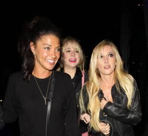 Jessica Szohr et ses amies, très excitées d'assister au concert de Rihanna à Los Angeles.