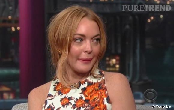 "Lindsay Lohan est venue faire la promotion de son film ""Scary Movie 5"" sur le plateau de David Letterman."