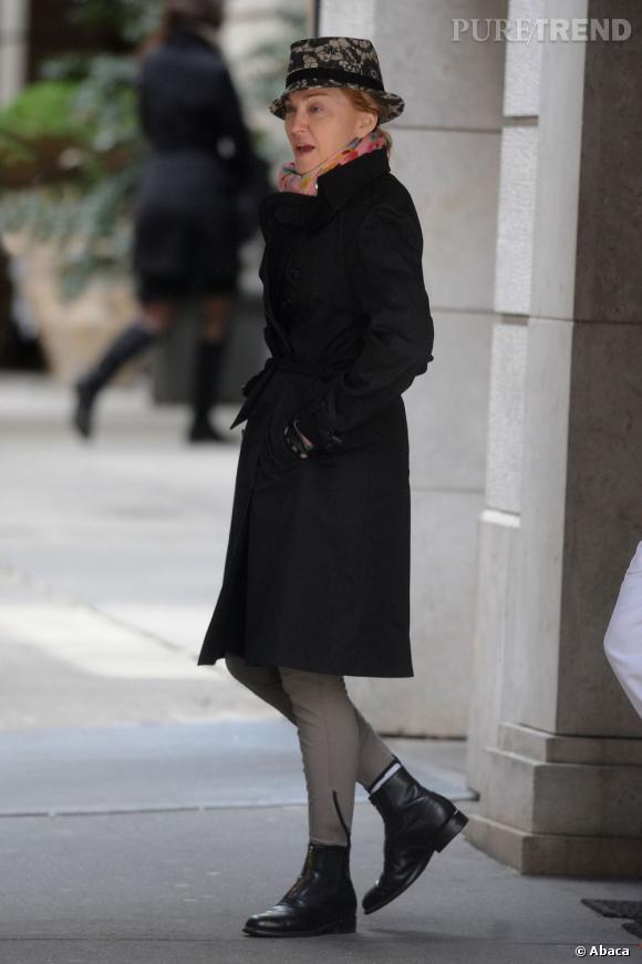 Madonna sans make-up à New York le 14 avril 2013.