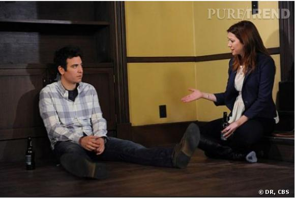 """""""How I Met Your Mother"""" saison 8 épisode 24 : Ted et Lily en pleine discussion."""